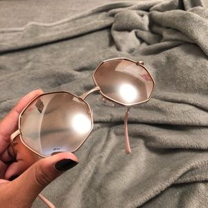 Pink Urban Outfitters Mirrored Sunglasses!